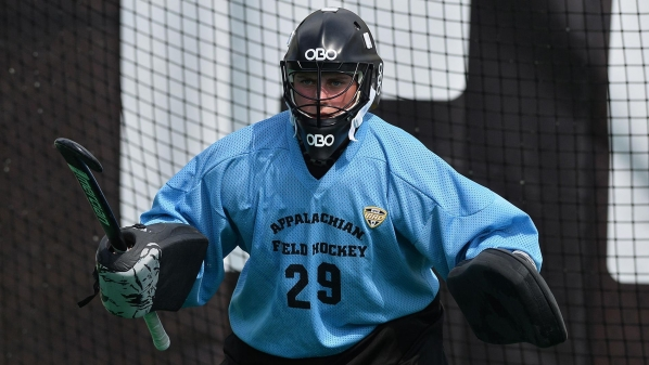 Gaines in goal. Photo by Tim Cowie/App State Athletics