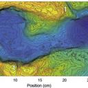 Elevation model of a human footprint at Engare Sero