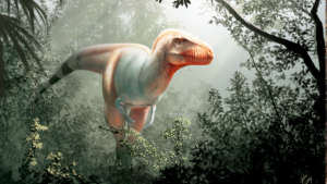 An artist's representation of the new tyrannosaur
