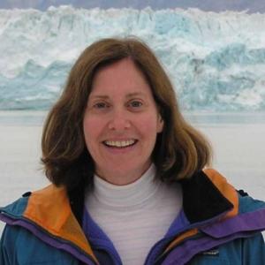 Dr Ellen Cowan in the field