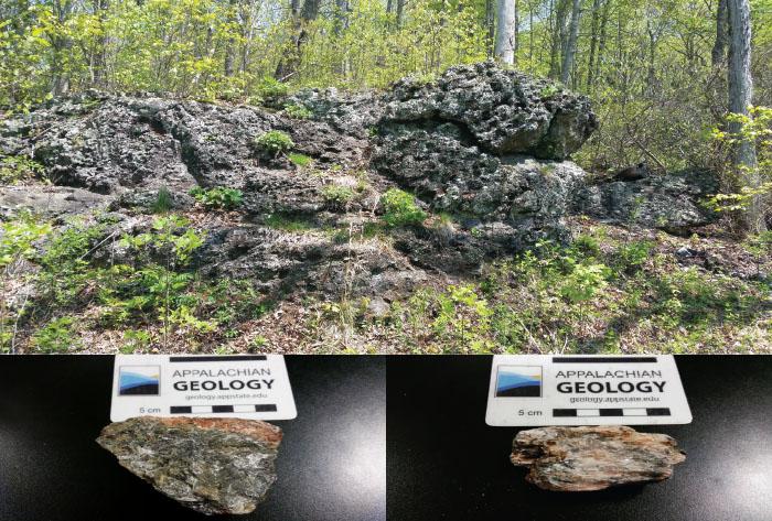 Figure 2. Mineral Assemblage: chlorite, anthophyllite, tremolite, magnetite, talc, olivine