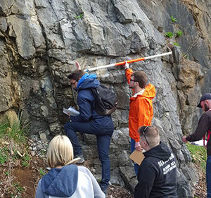 Students in Sed-Strat in the field