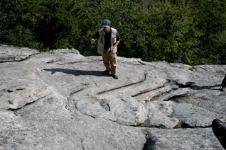 Grandfather Mountain Quartzites at Beacon Heights