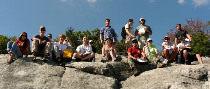 Geology students at Beacon Heights