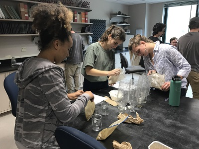Appalachian GES students in lab