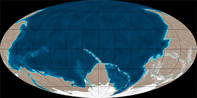 Precambrian world map