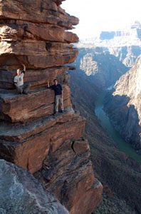 students on cliffs