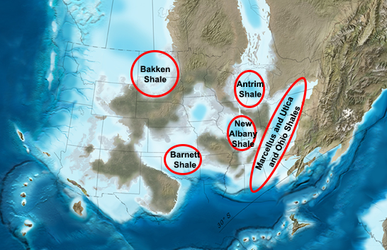 map of shale basins