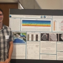 Jacob Pratt presents his research on glacial sediments